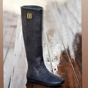 DAV Womens Austin Snake Black Rainboot Size 11
